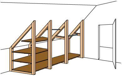 Bauanleitung Fur Einen Geraumigen Dachschragenschrank Garage Attic Storage Closet Remodel Attic Renovation
