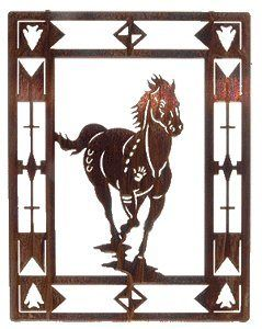 20 Escape Horse Framed Metal Wall Art Horse Wall Art Metal