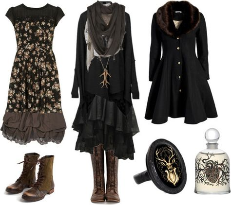 """Oops it's literally my kind of style YES brown and black and deers ;w; """"black forest mori - Google Search"""""""