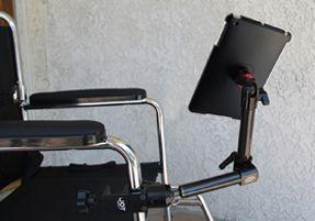 Supports pour fauteuil roulant