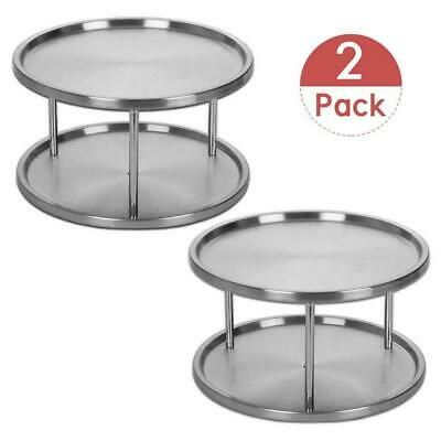 Ad Ebay Url Laniakea 2 Tier Lazy Susan Stainless Steel 360 Degree Turntable Rotating Spice Rack Organiser Lazy Susan Spice Rack