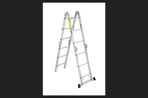 Werner Aluminum 12 Ft H Articulating Ladder 300 Lb Type Ia Multi Ladder Ladder Articulating Ladder