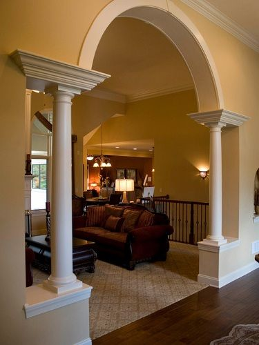 15 Trendy Hall Arch Designs To Deck Up Your House In 2020 Archways In Homes Sunken Living Room Mediterranean Living Rooms