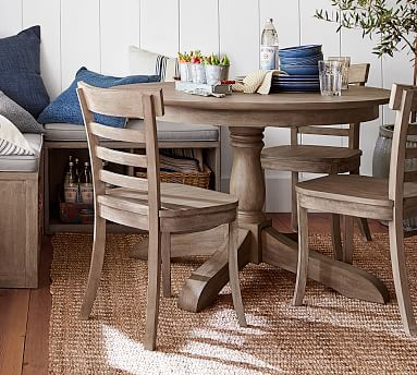 Pedestal Round Extending Dining Table