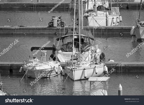 Italy, Sicily, Mediterranean sea, Marina di Ragusa; 2 August 2017, boats and luxury yachts in the port - EDITO #Ad , #affiliate, #Marina#di#Ragusa#sea