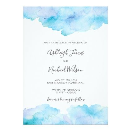 Salty Sea Breeze Watercolour Wedding Invitation Zazzle Com