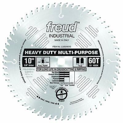 Sponsored Ebay Freud Lu82m010 10 Inch 60 Tooth Tcg Crosscutting And Ripping Saw Blade With 5 8 Saw Blade Circular Saw Blades Blade