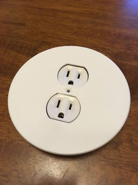Round Outlet Cover Plate : round, outlet, cover, plate, Round, Outlet, Cover, Plate, Tuxcat, Thingiverse, Creative, Walls,, Outlets,, Covers