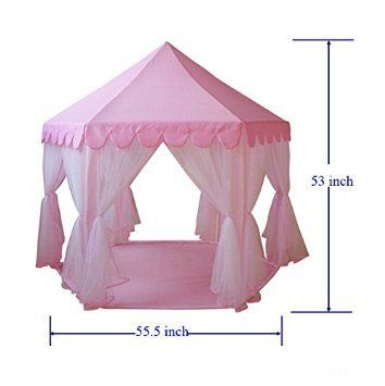 GreEco Princess Castle PLay Tent Fairy Princess Castle TentNewest Design Extra Large Room Pink  sc 1 st  Pinterest & 1915 best Tents u0026 Tunnels images on Pinterest | Play tents Baby ...