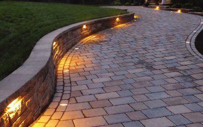 pavelux led paver inserts integral lighting landscape design driveway drivewa g40 e12 bulb