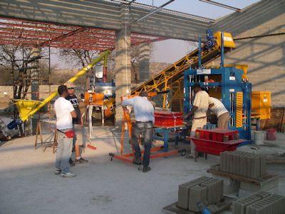 Made In Italy Concrete Block Making Machine For India And Bangladesh Concrete Blocks Concrete Making Machine