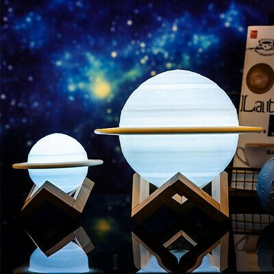 Led Night Light Home Bedroom 3d Printing Durable Pla Shape Moon Lamp Ebay In 2020 Night Light Led Night Lamp Led Night Light