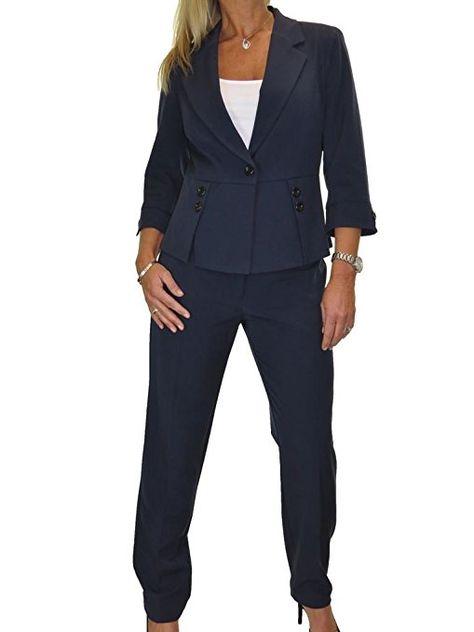 beste Schuhe heißester Verkauf autorisierte Website ICE Damen Anzug mit Hose - für Büro oder Geschäft - waschbar ...