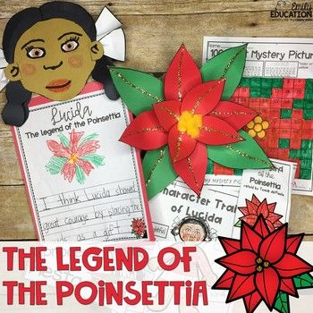 Image Result For Legend Of The Poinsettia Printable Free Adult