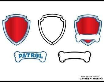 Paw Patrol Logo Template Il 340x270 1394963900 Paw Patrol Badge Paw Patrol Badge Printable Paw Patrol Birthday Party