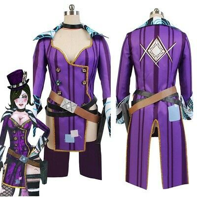 Borderlands 2 Mad Moxxi cosplay costume purple outfit /& hat