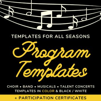 Music Concert Program Templates And Certificates Fall Winter