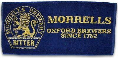 MORRELLS BREWERY BITTER Pub Beer BAR TOWEL Blue