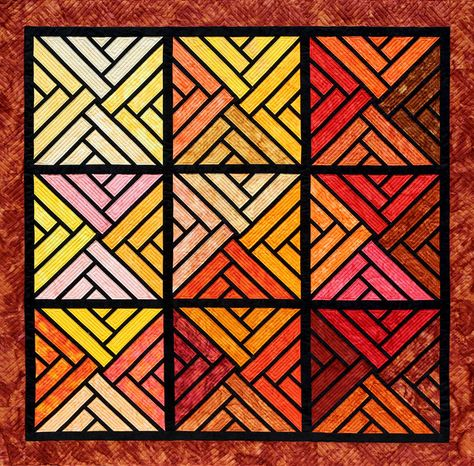 Fractured Paint Box - Kit, Judy Niemeyer Quilting, seen at Canton Village Quilt Works.  Foundation pieced with Hoffman Bali Pops.