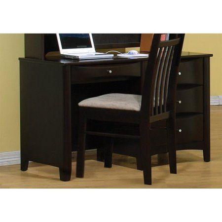 Coaster Phoenix Wooden Kids Desk With Storage Espresso Walmart Com Furniture Kids Desk Storage Stylish Room