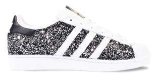 Adidas Originals Adidas Women's WhiteBlack Glitter Sneakers