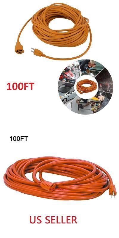 H61 100 Ft 16gauge Indoor Outdoor Heavy Duty Power Extension Cord Orange Ul Extension Cord Cord Indoor Outdoor