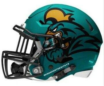 Coastal Carolina Chanticleers Football Football Helmets College Football Helmets Nfl Football Helmets