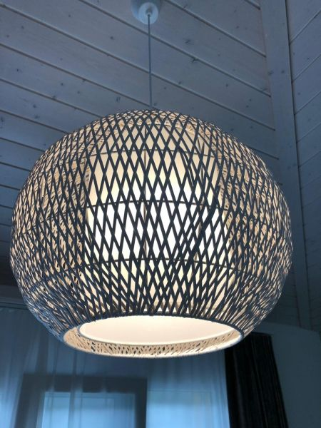 Design Hänge Lampe Ess Zimmer Decken Pendel Leuchte Rattan Design Beleuchtung