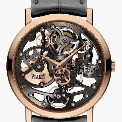 Montre Squelette Extra plate Or rose Piaget Montre de Luxe
