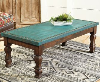 Turquoise Silver Trails Coffee Table With Images Painted