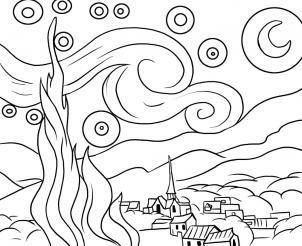 How To Draw Starry Night By Dawn Starry Night Art Van Gogh Art