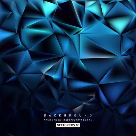 Abstract Blue Black Polygonal Background Design Geometric