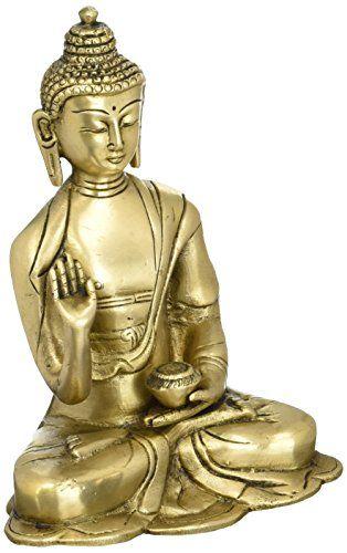 Buddhist Dcor Brass Metal Art Enlightenment Buddha Statue 6 Inches