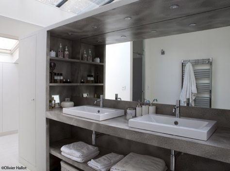 Meuble sallede bains En béton ciré Lumistone SP  Après DECO Salle
