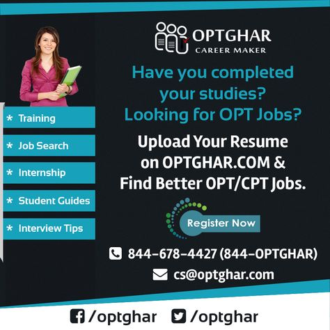 Entry Level OPT Jobs for OPT Students at OPTGhar, here you can - how to upload a resume