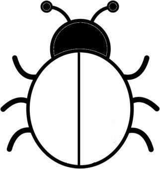Coloriage Coccinelle Sans Points Easy Drawings For Kids Felt