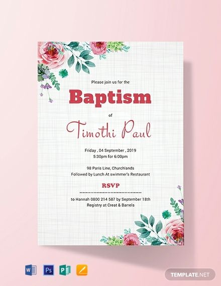 Free Simple Baptism Invitation Card Baptism Invitations