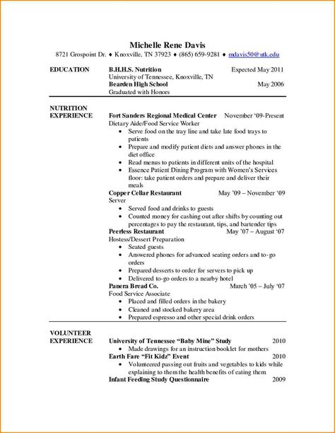 sample resume for dietary aide media templates job Home Design - dietary aide sample resume