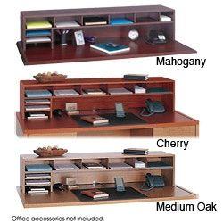 Overstock Com Dieser Schreibtisch Organizer Aus Holz Fugt Ihnen Regale Und Ablagefacher Hin Desk Organization Diy Diy Desk Desktop Organization
