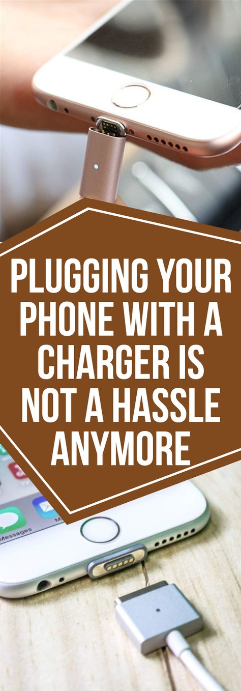 No more fumbling and fiddling around, trying to plug your phone in. With this nifty, little, magnetized gadget you can connect your device for charging in seconds!