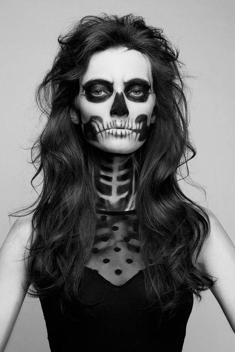 Idée de make up pour #halloween le crâne ! #makeup #inspiration
