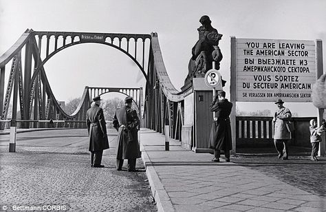east german stasi cold war | The bridge between East Germany and West Berlin pictured in the early ...