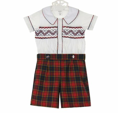 cc436e46943b8 Baby Boys Longalls with Smocked Santa Claus, Snowman and Christmas ...