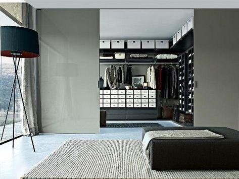Begehbarer kleiderschrank design  Einrichtungsideen für Schlafzimmer aus Italien - Kleiderschrank ...