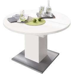 Dining Tables Wood Esstische Holz Mausbacher Extending Table O104 144cm White Matt Stainless S In 2020 Dining Table Extendable Dining Table Timeless Dining Table
