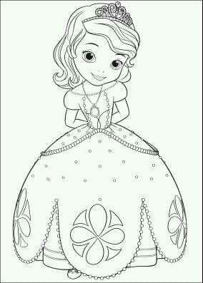 Pin Von Maureen Guzman Auf Princesa Sofia Malvorlage Prinzessin Disney Malvorlagen Disney Farben