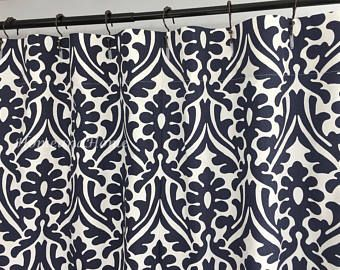 Damask Shower Curtain Fabric Shower Curtain Custom Shower Curtain