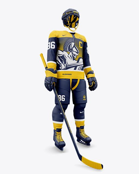 Download Men S Full Ice Hockey Kit Mockup Hero Shot In Apparel Mockups On Yellow Images Object Mockups Clothing Mockup Design Mockup Free Free Psd Design