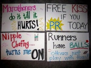 "Oh my...the things you can do with running quotes ;)  My fave is ""XC girls like it long and hard in the woods"" ;D"