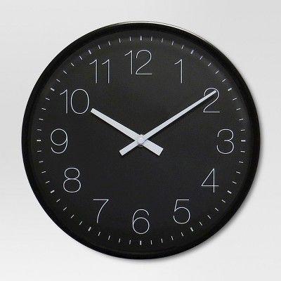 10 Round Wall Clock Black Project 62 Black Wall Clock Round Wall Clocks White Wall Clocks